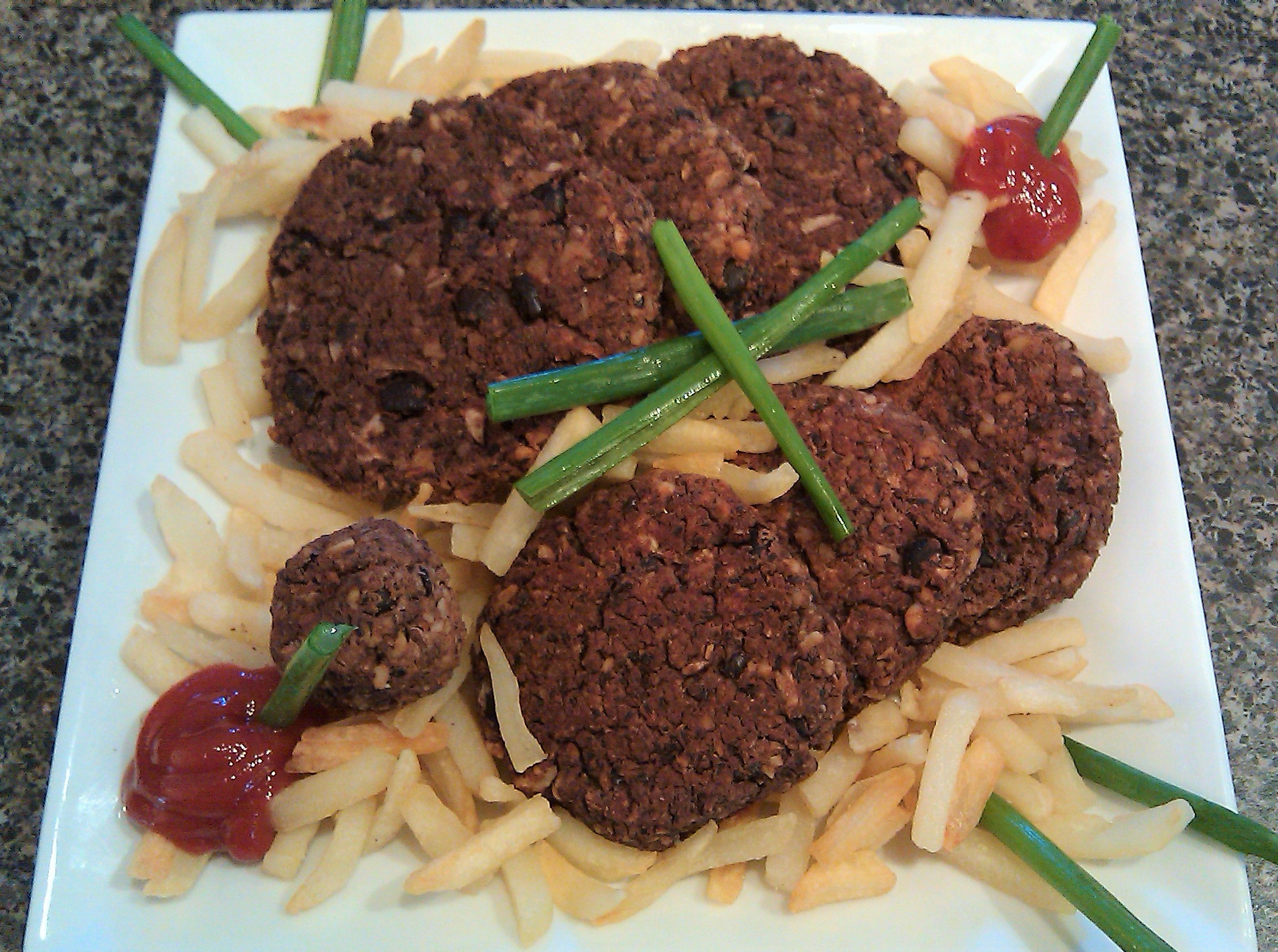 Spiced Black Bean Patties