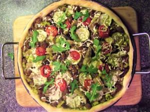 Homemade vegan pizza