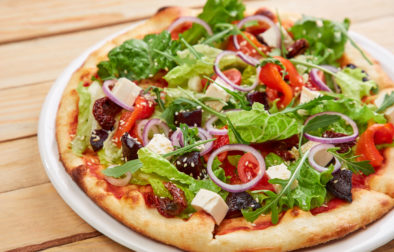 meat-free pizza