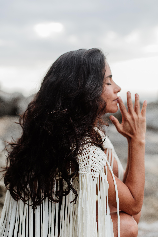 Praying sacred woman