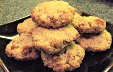 vegan oat crisp cookies