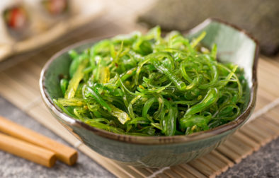 Seaweed salad with sesame seeds