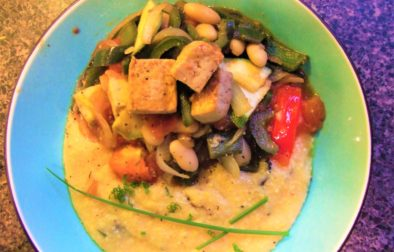 Vegetable Stir-fry with Polenta