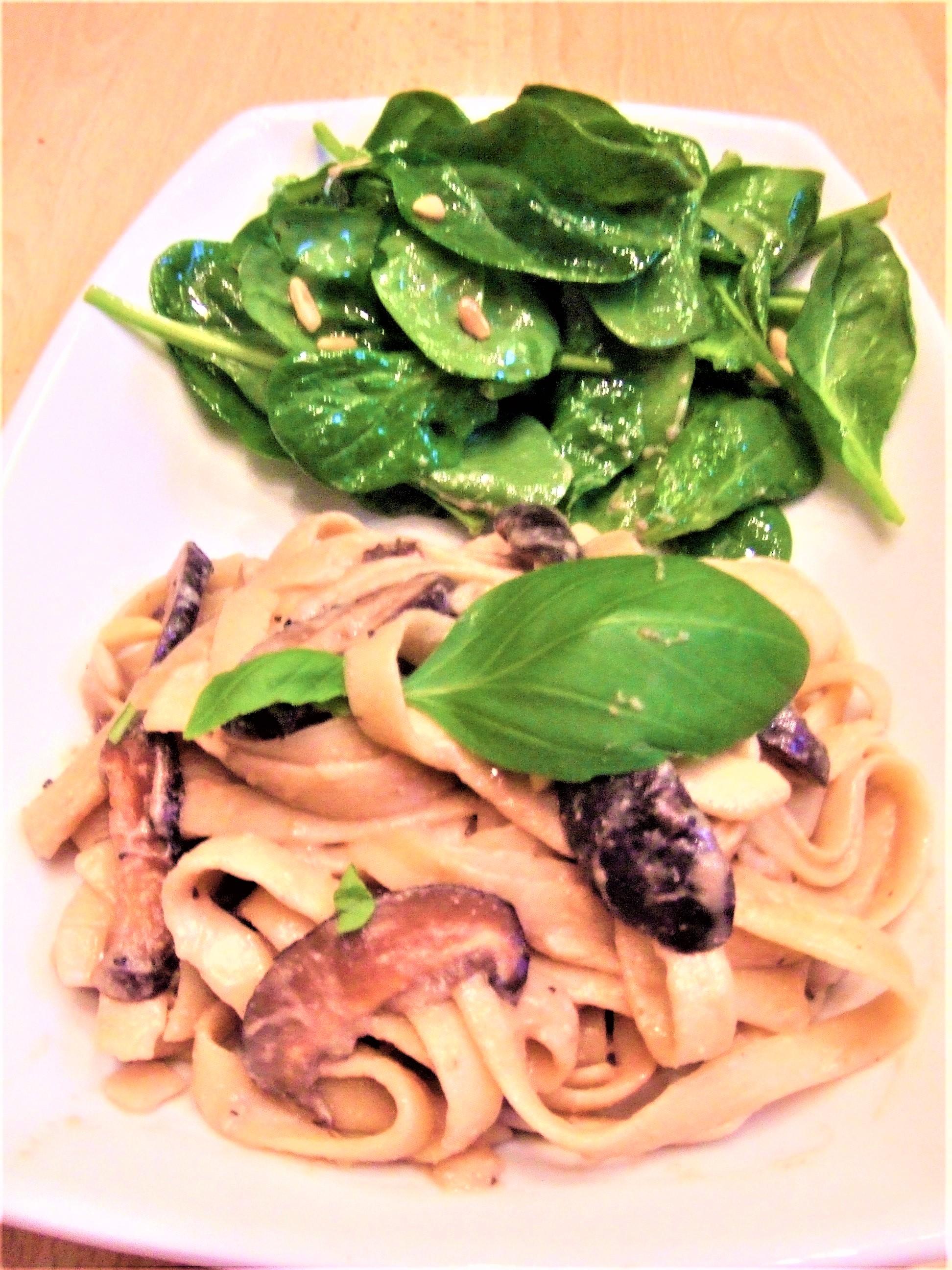 Creamy Mushroom Fettucini