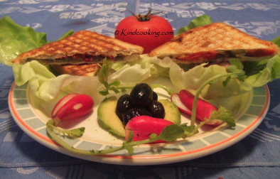 Grilled vegetable paninis