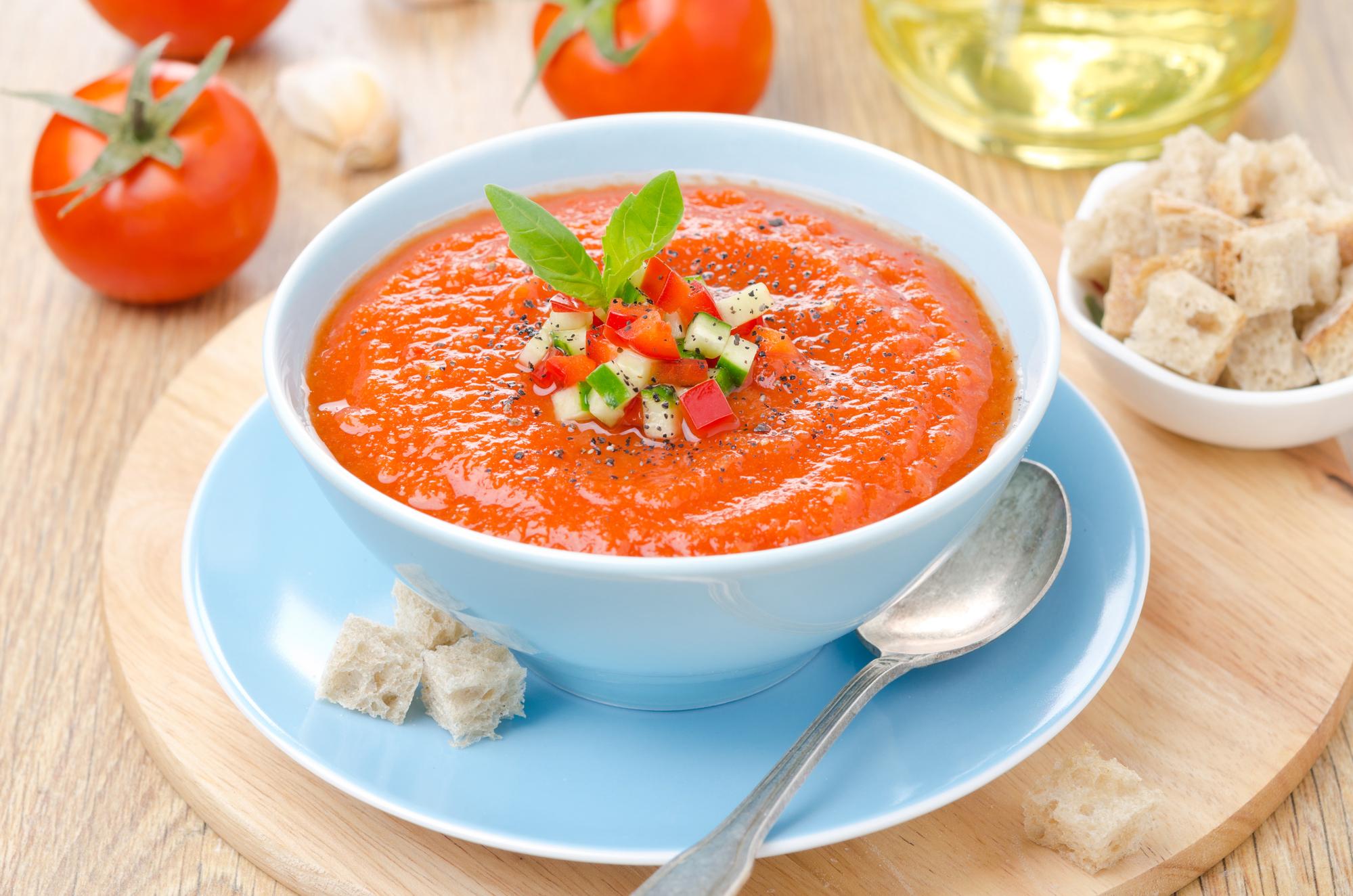 Cold gazpacho soup