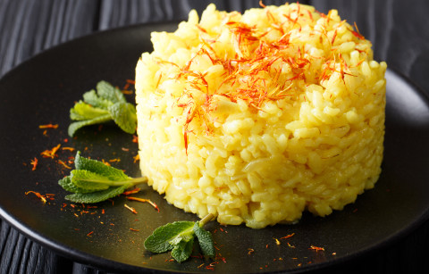 Best Vegan Saffron risotto