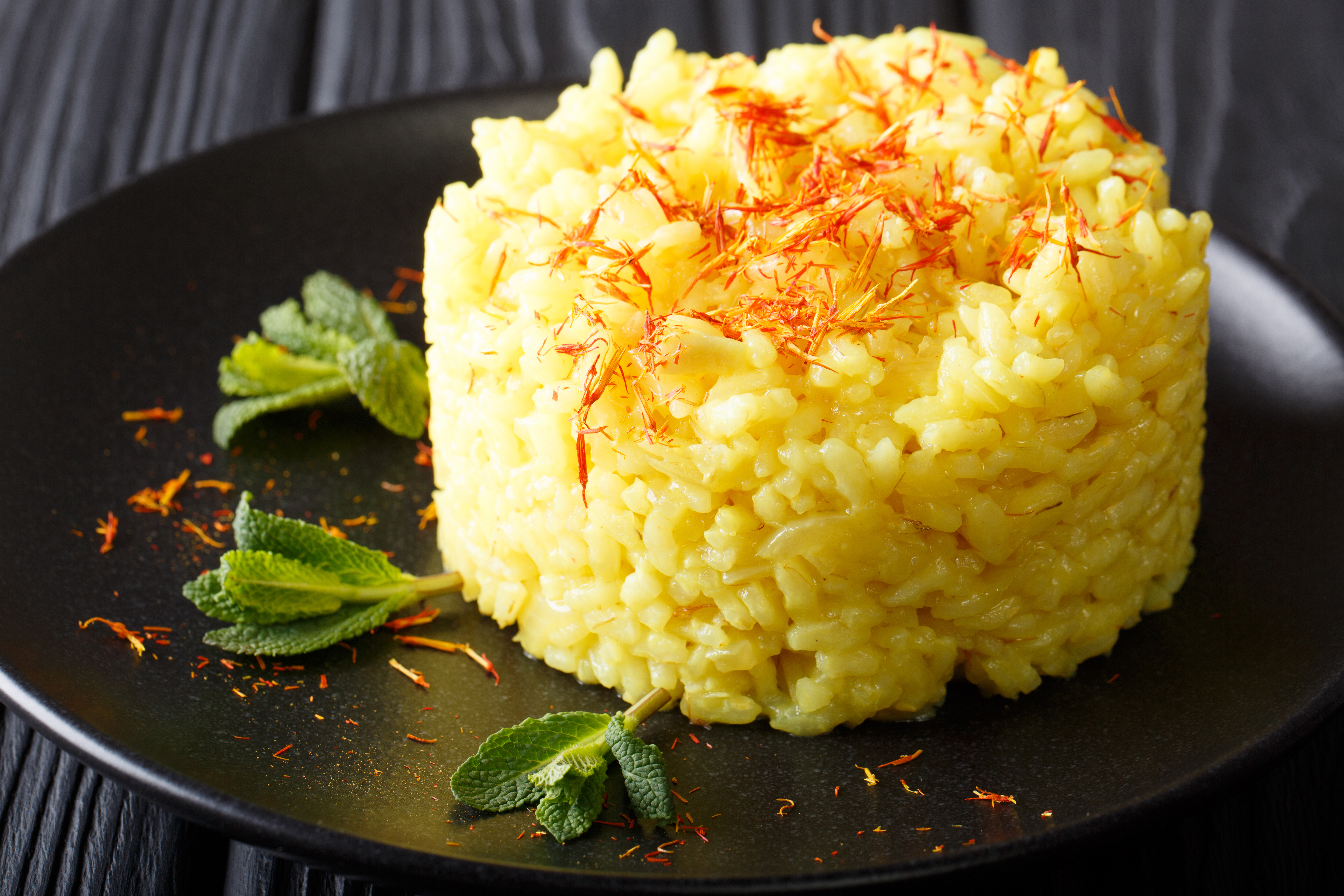 Best Vegan Saffron risotto
