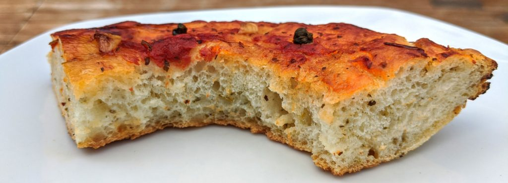 Baked foccacia