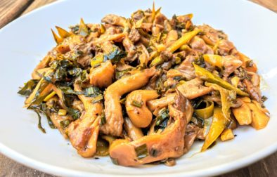 Oyster mushroom stirfry