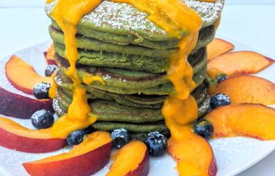 Vegan Matcha pancakes