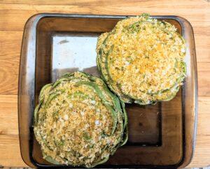 Ready to bake stuffed artichokes