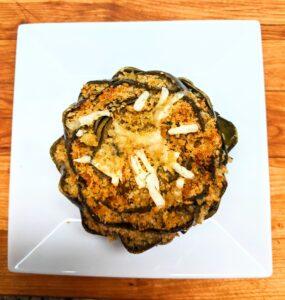 Perfectly roasted stuffed artichokes