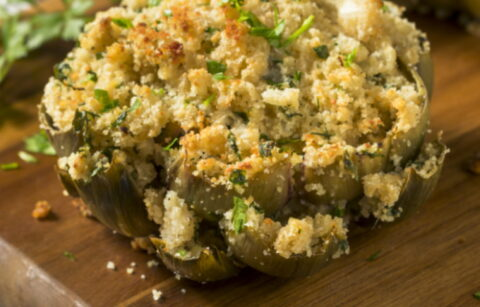 roasted stuffed artichokes