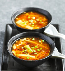 Hot and sour vegan soup