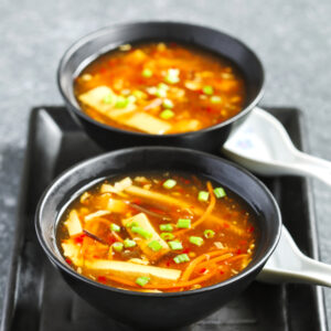 Hot and sour vegan soup