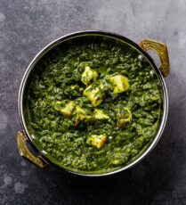 Saag paneer with tofu