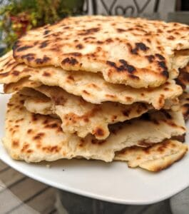 stack of naan bread