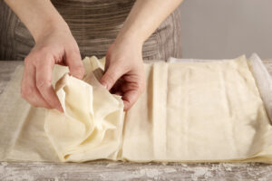 Working with phyllo dough