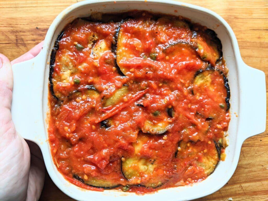 Polenta eggplant gratin