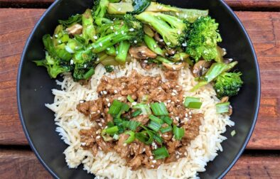 Vegan Mongolian beef broccoli