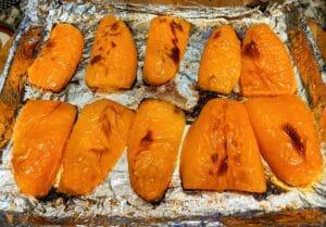 Roasted orange bell peppers