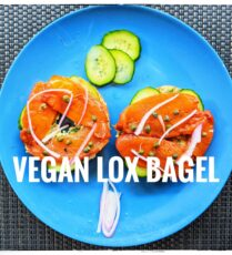 Vegan Lox bagel