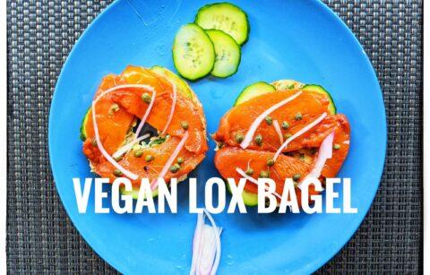 Vegan Lox bagel
