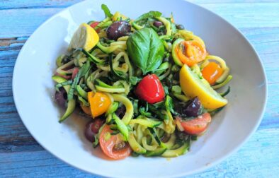 fresh zucchini pasta