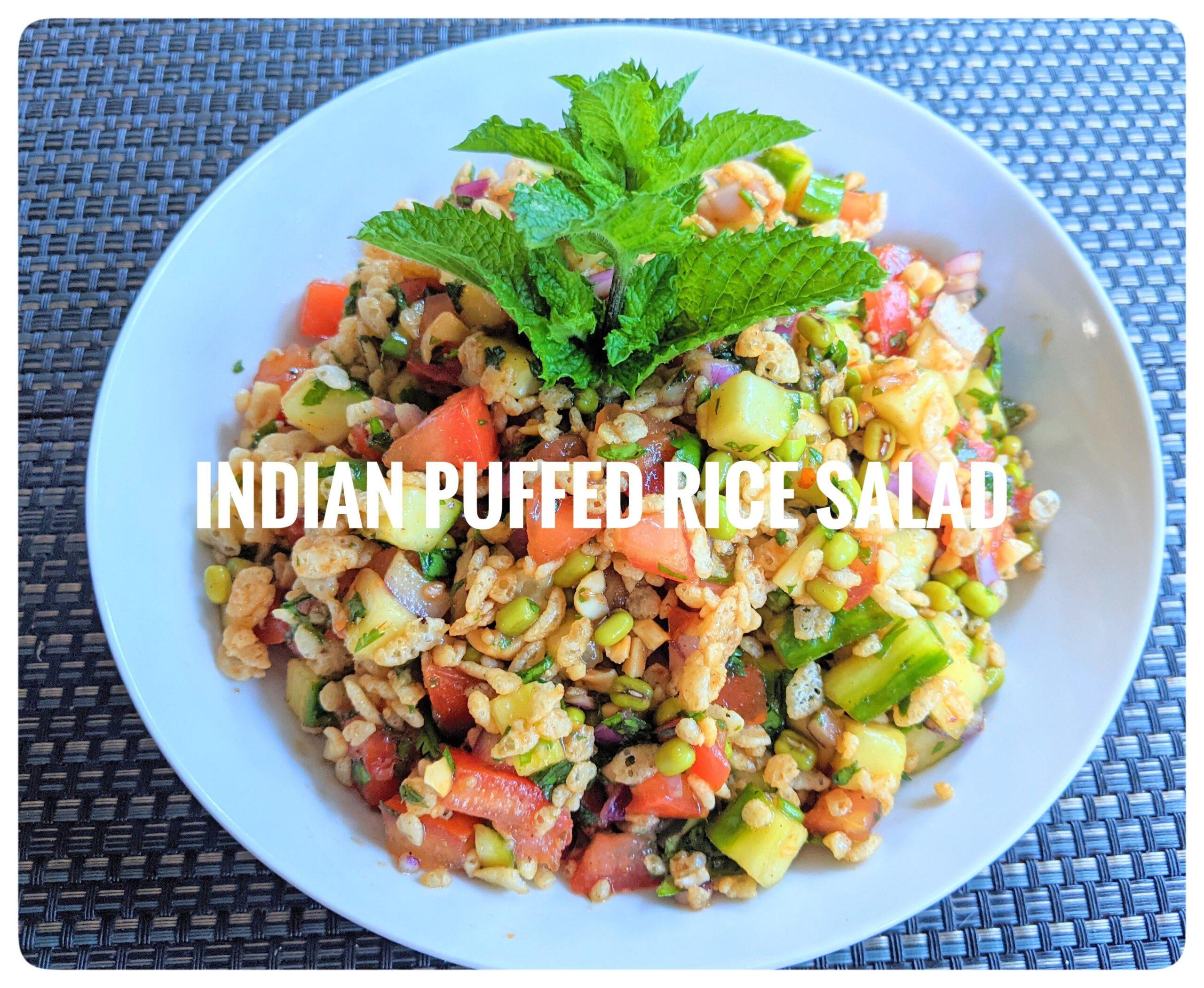 Indian Puffed Rice Salad