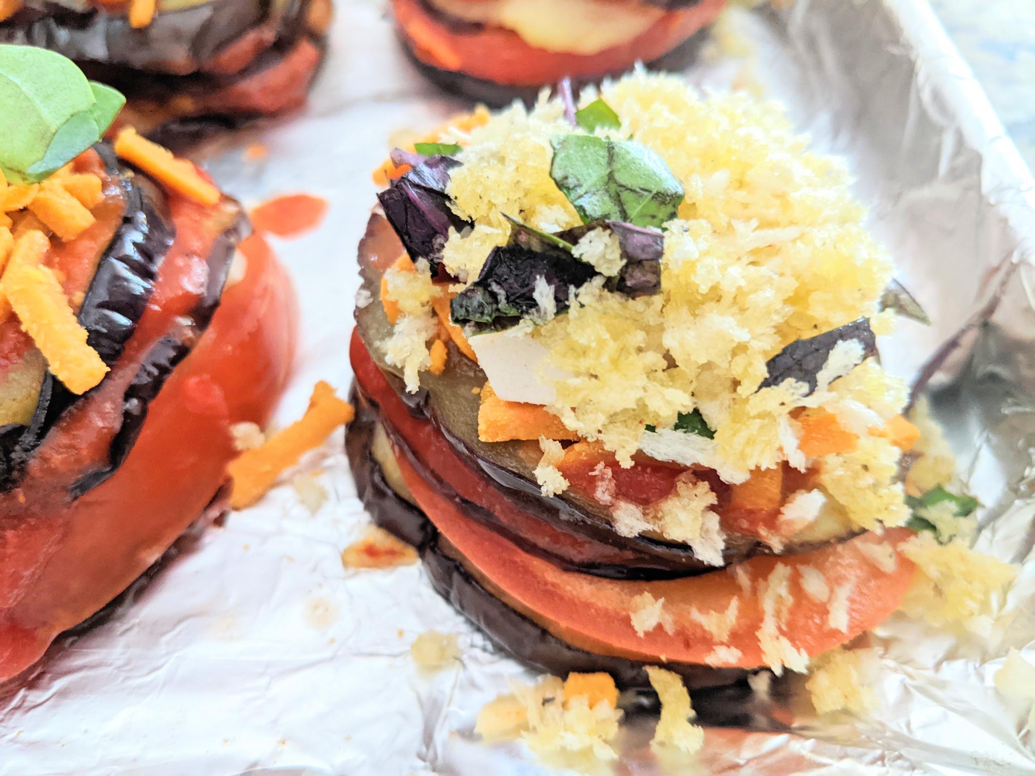 Easy eggplant stacks