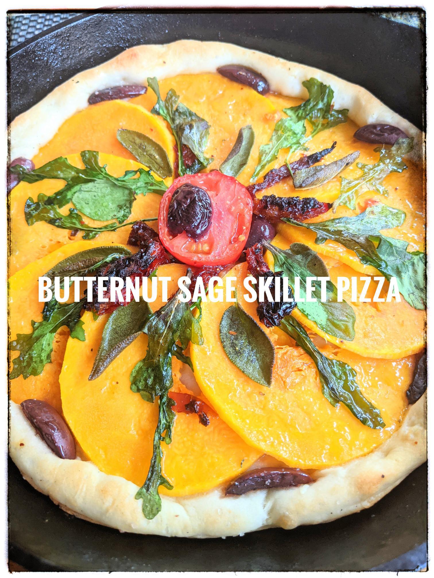 Butternut Squash skillet Pizza