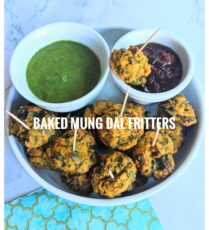 Baked Mung dal fritters