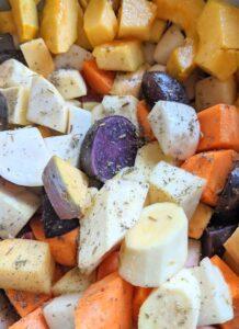 Fresh root vegetables